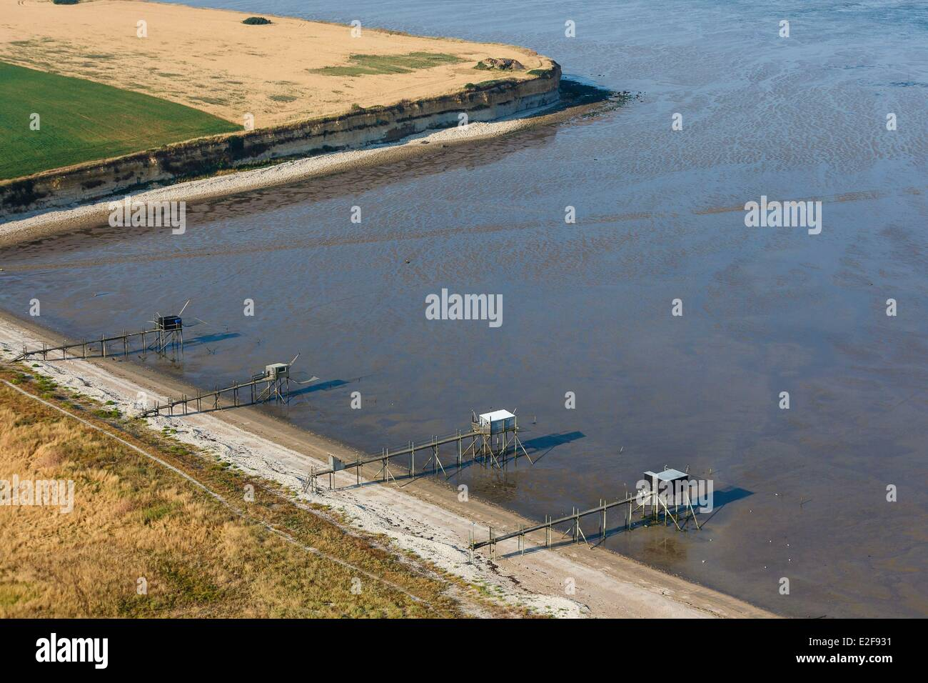 France, Charente Maritime, Yves, fisheries (aerial view) - Stock Image