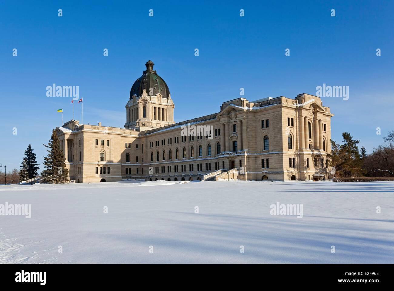 Canada, Saskatchewan, Regina, the provincial capital, the parliament - Stock Image