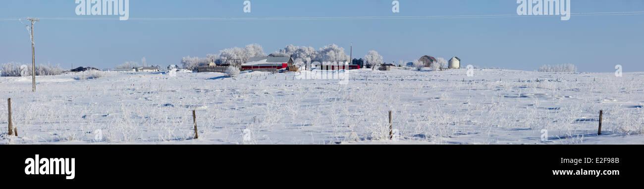 Canada, Saskatchewan farm near Saint-Denis - Stock Image