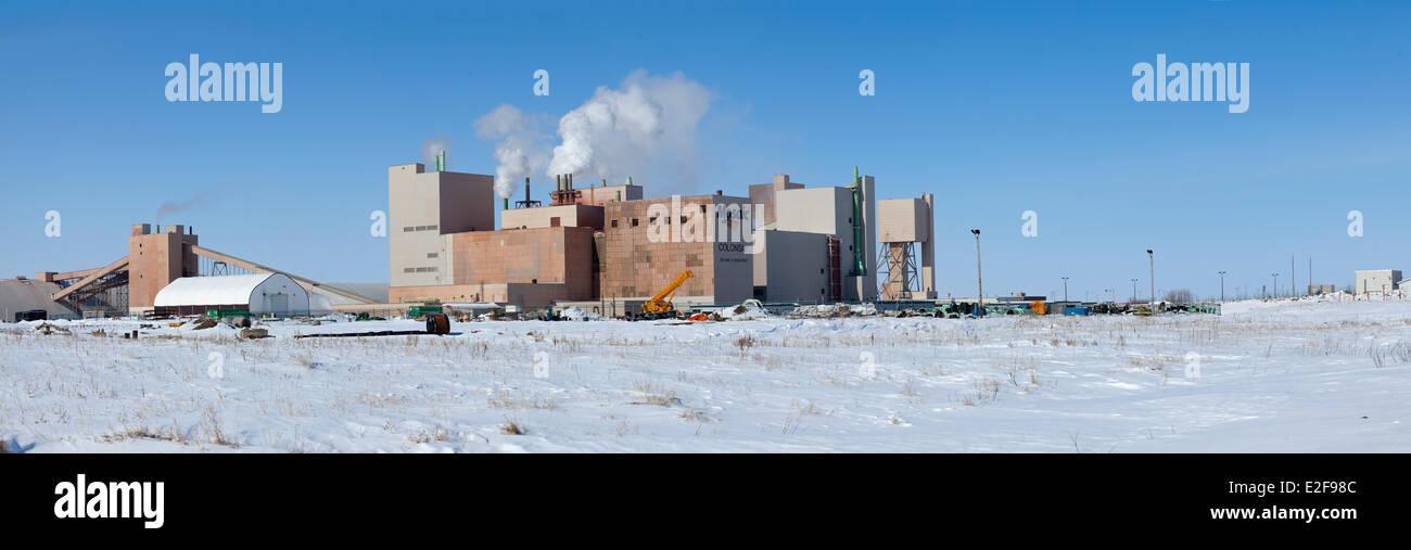 Canada, Saskatchewan, Colonsay, Mosaic potash plant - Stock Image