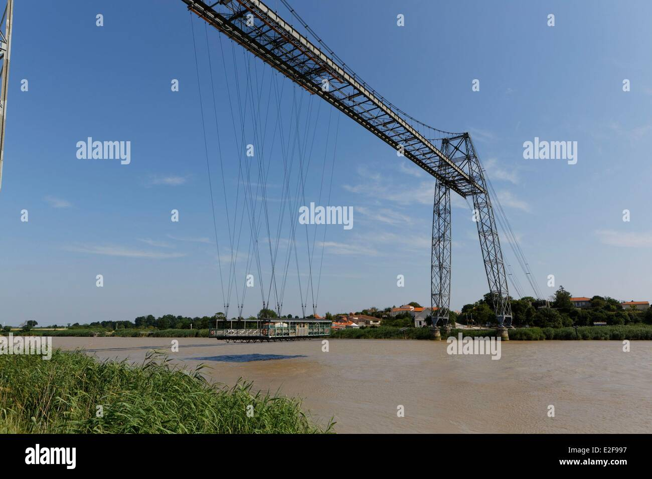 France, Charente Maritime, Rochefort, the transfer bridge over the Charente river - Stock Image