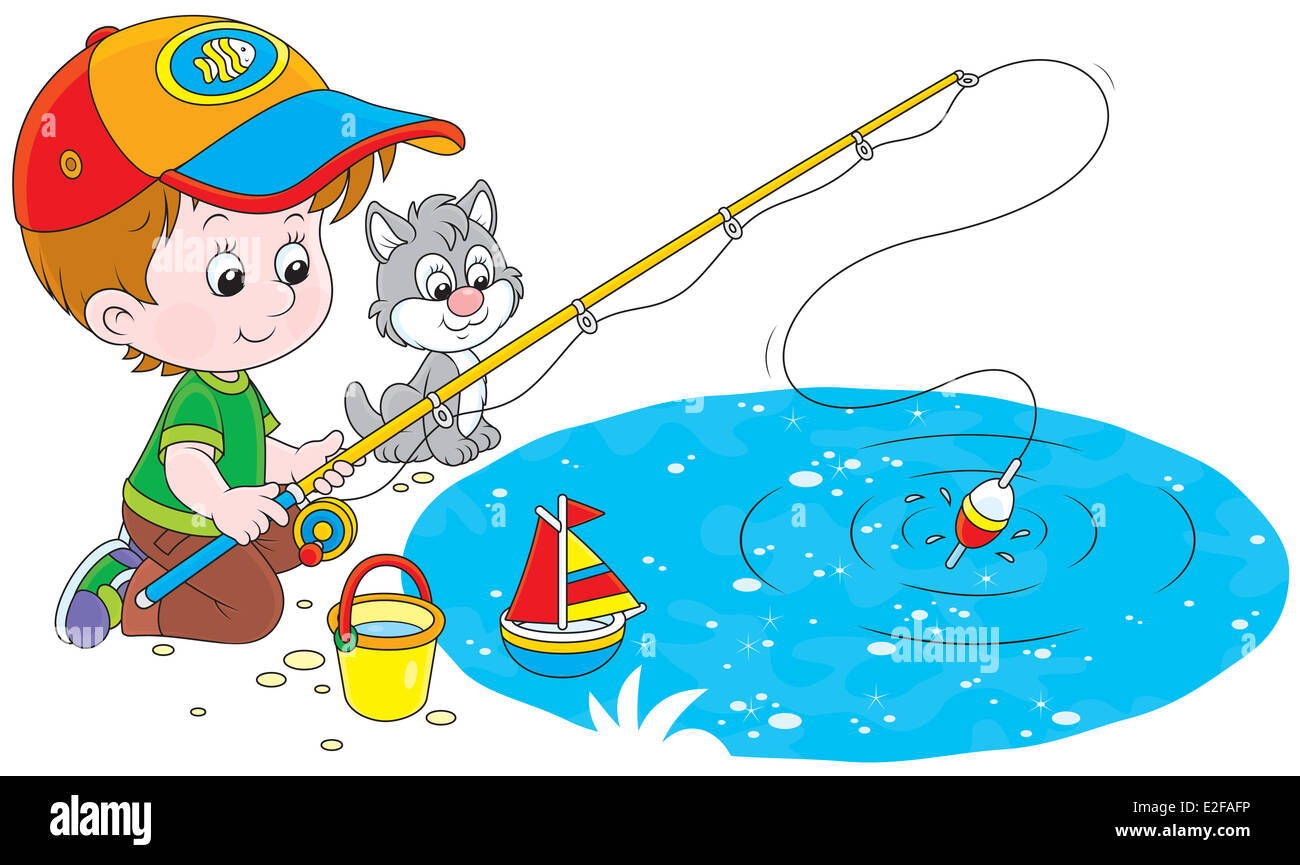 Little fisher - Stock Image