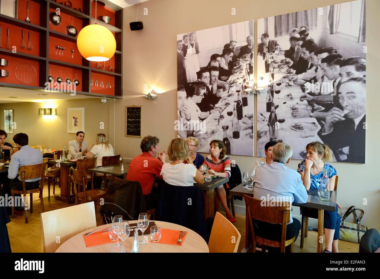 France Rhone Lyon La Croix Rousse District La Table Restaurant