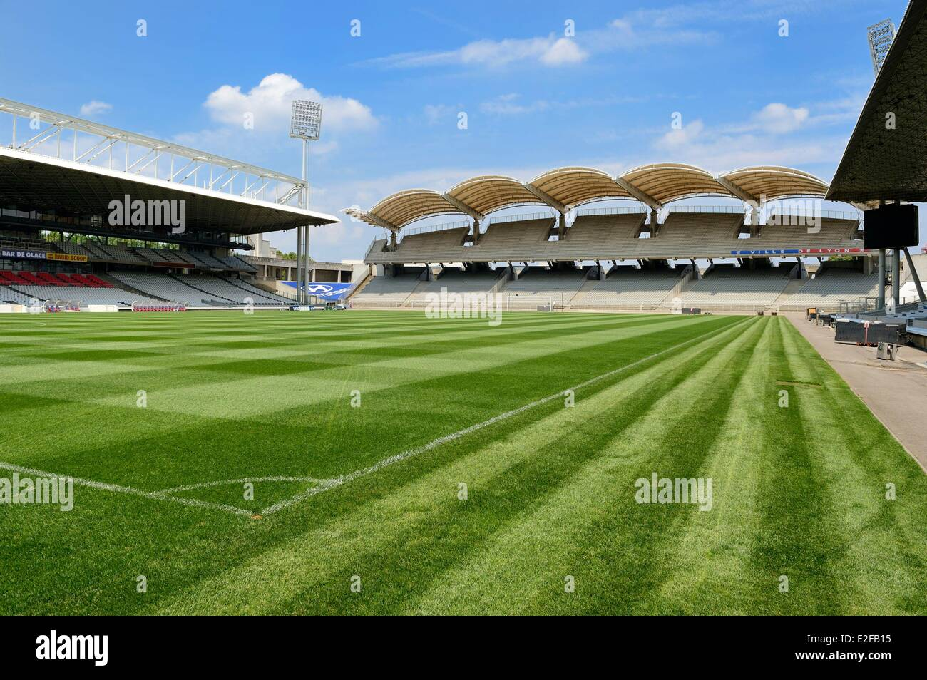 France, Rhone, Lyon, the Gerland stadium from the architect Tony Garnier Stock Photo