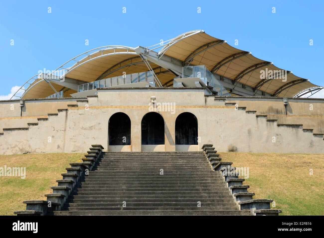France, Rhone, Lyon, the Gerland stadium from the architect Tony Garnier Stock Photo
