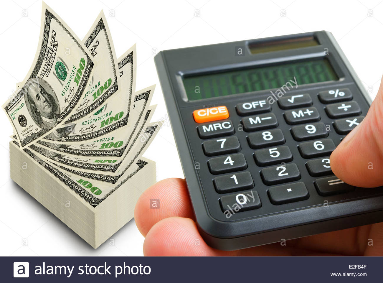 Getting quick returns on financial investments. - Stock Image