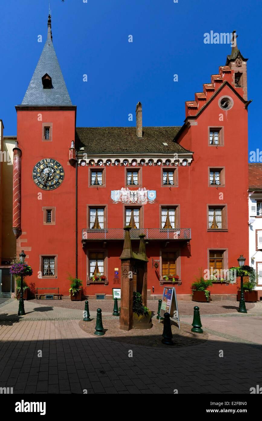 France, Bas Rhin, Haguenau, the Alsatian museum, old Chancellery - Stock Image