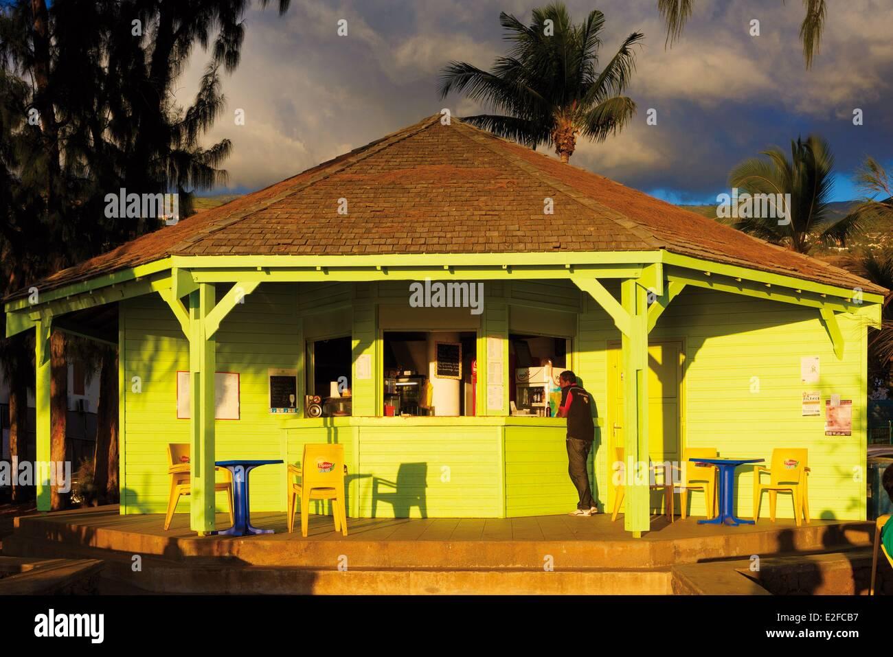 France reunion island french overseas department saint leu rondavel beach creole