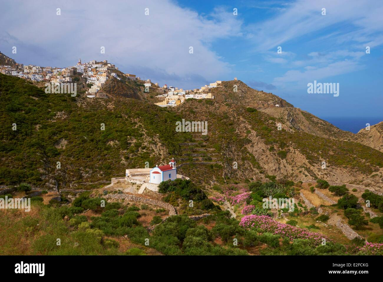Greece, Dodecanese, Karpathos Island, Olympos Stock Photo