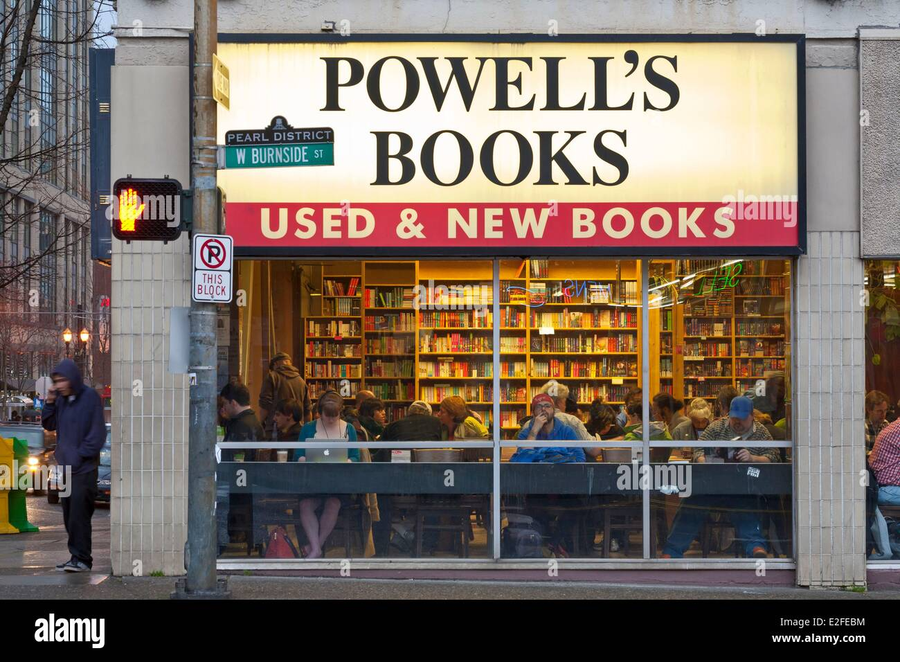 United States Oregon Portland Pearl District Powell's Books the largest independent bookstore in the world of - Stock Image