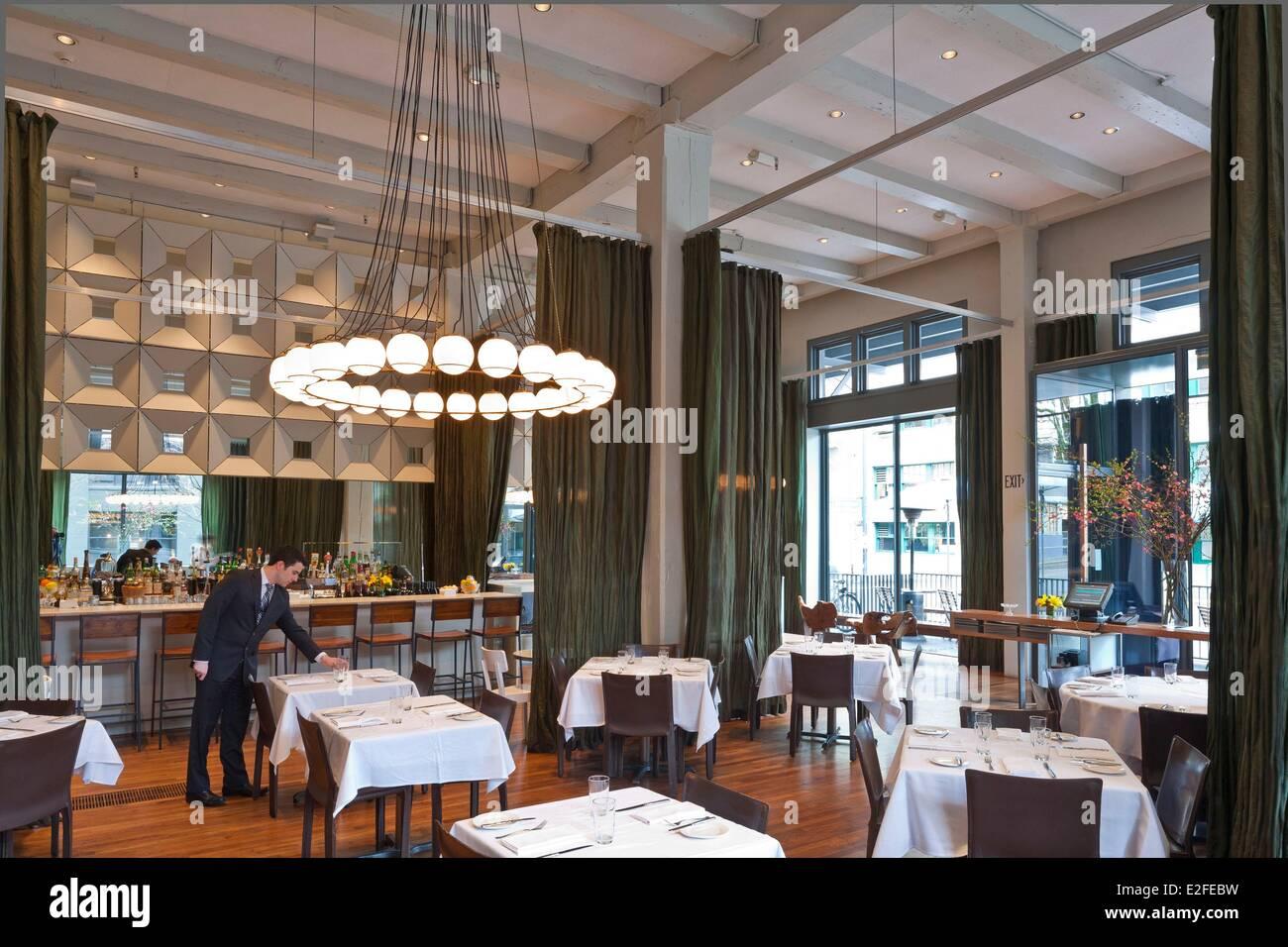 United States, Oregon, Portland, Pearl District, Bluehour restaurant designed by architect Brad Cloepl - Stock Image