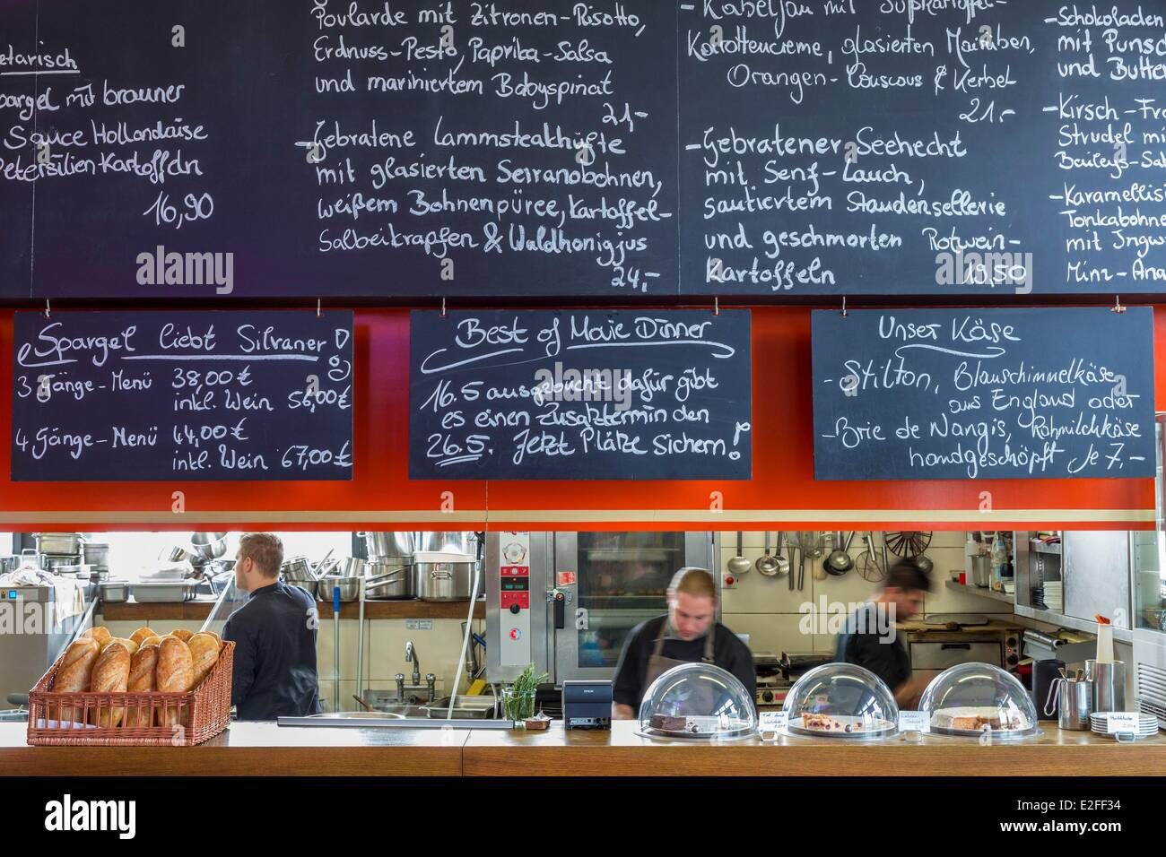 Germany, Hamburg, Deichtorhallen, Fillet of Soul restaurant - Stock Image