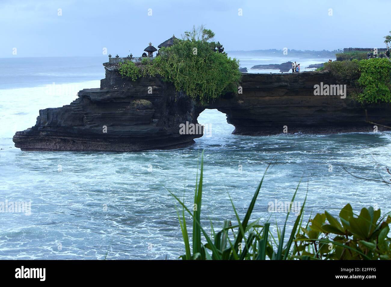 Indonesia, Bali, Pura Tanah Lot Temple - Stock Image