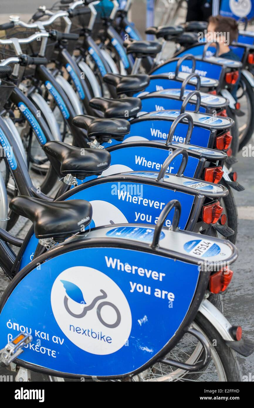 Cyprus, Limassol, Nextbike bicycles self-service - Stock Image