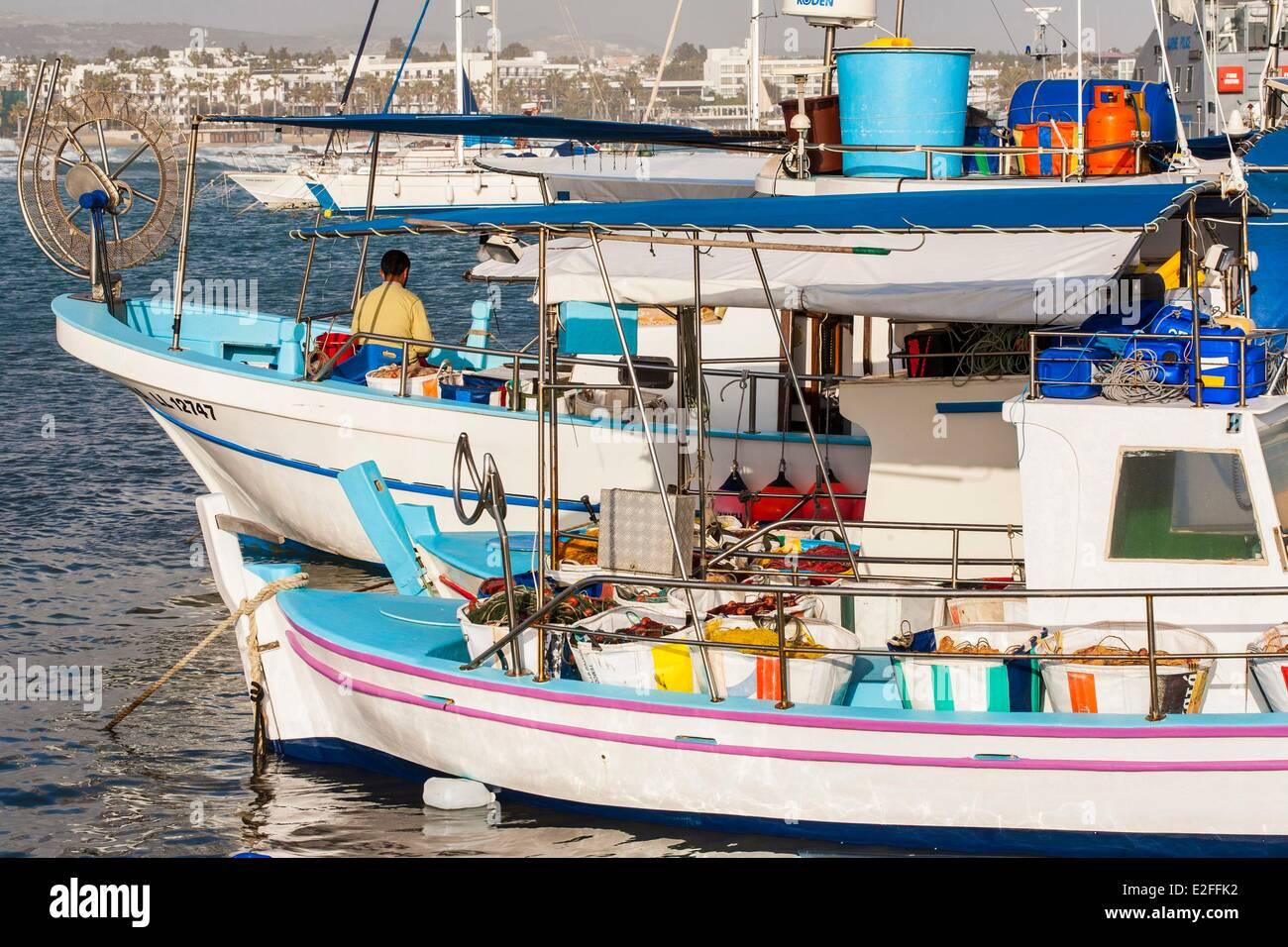 Cyprus, Paphos, fishing port - Stock Image