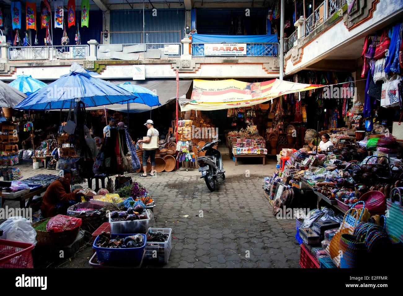 Indonesia, Bali, Ubud, Pasar Seni, the craft market - Stock Image