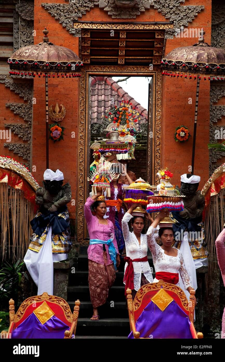 Indonesia, Bali, Ubud, preparation of cremation - Stock Image