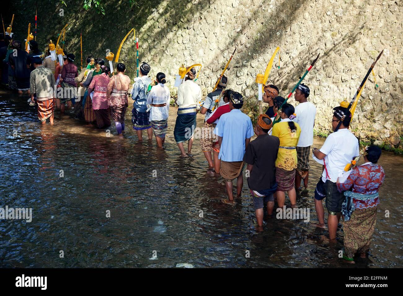 Indonesia, Bali, near Ubud, Tampaksiring, traditional festival - Stock Image