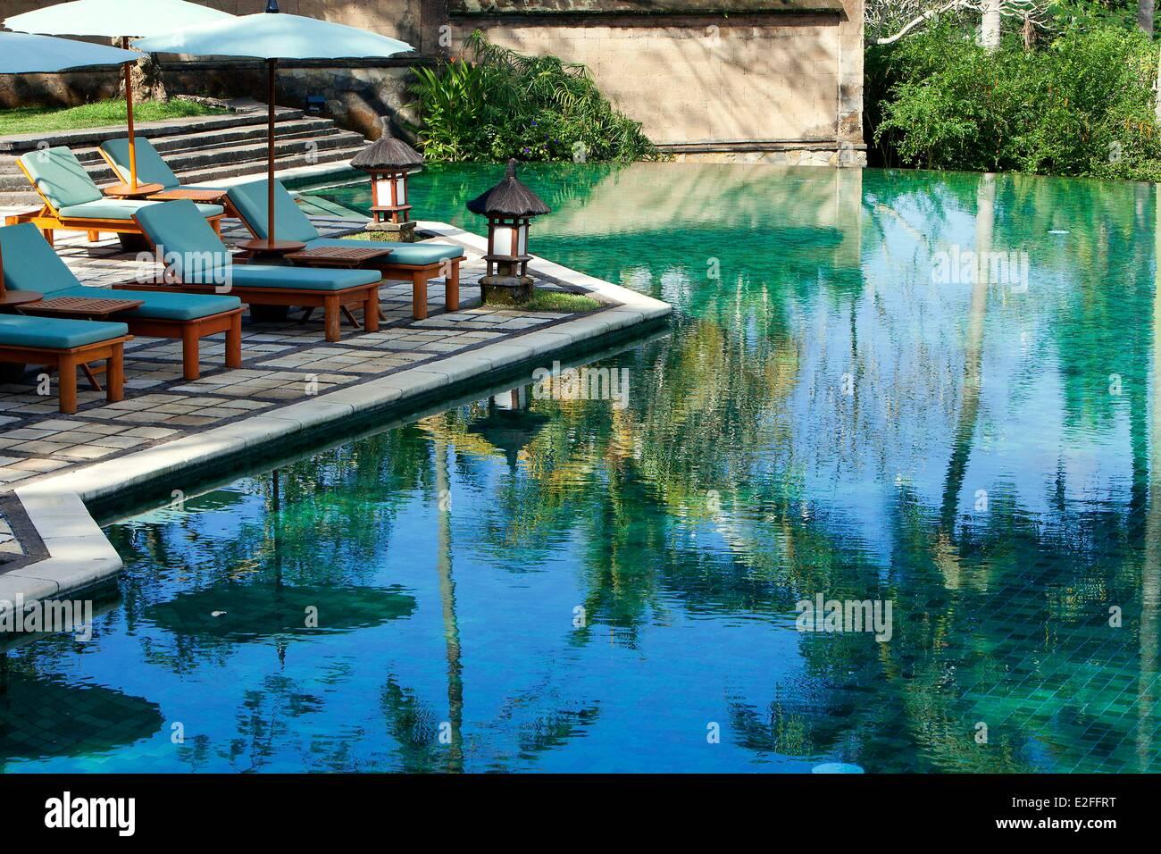 Indonesia, Bali, Ubud, Hotel Amandari, pool - Stock Image