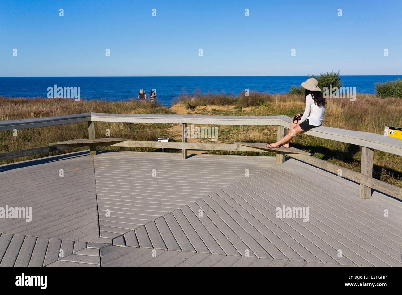 United States, Massachusetts, Cape Cod, Truro, Highland Lighthouse, the beach - Stock Image