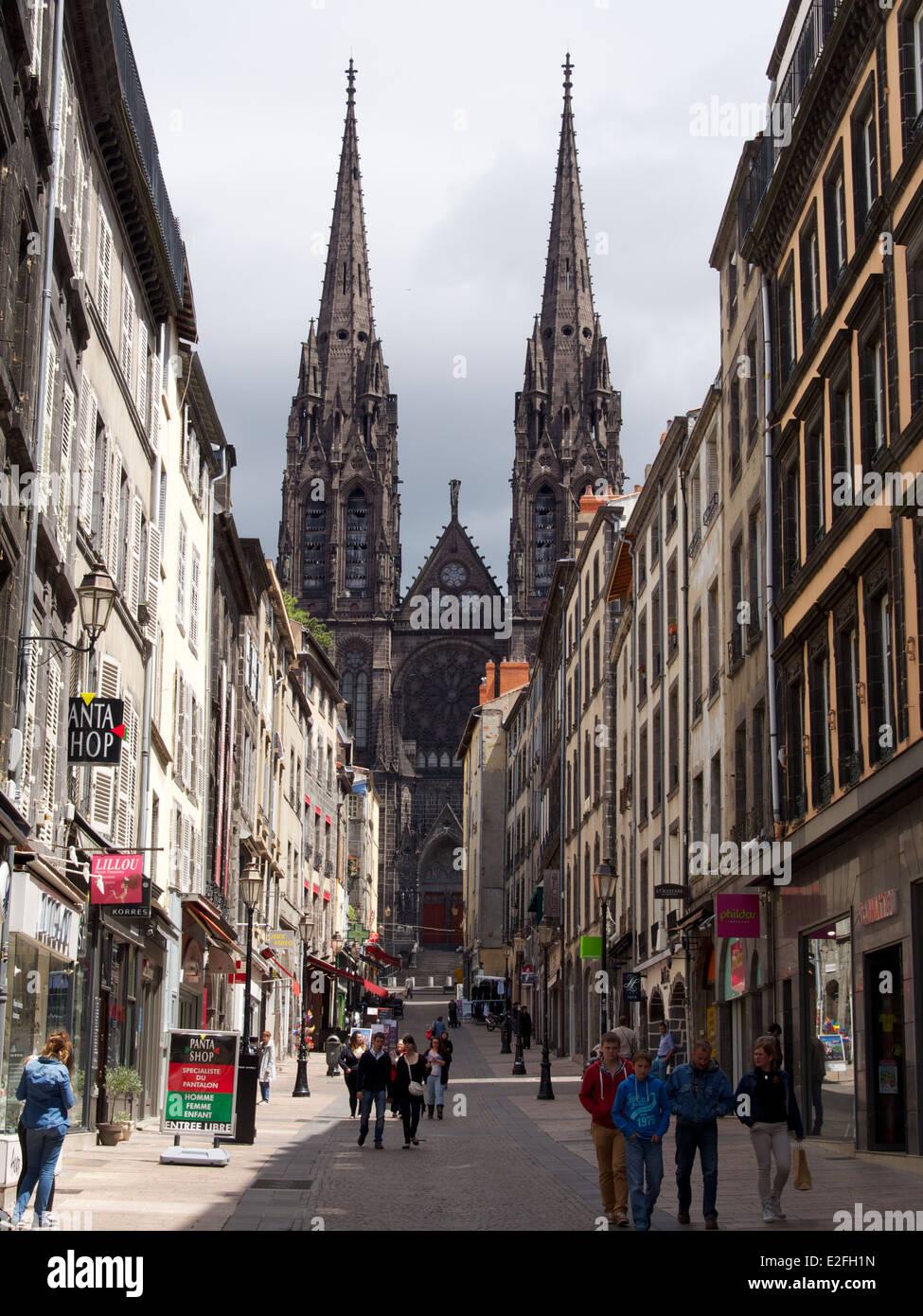 Clermont-Ferrand, capital of Auvergne, Puy de Dome, France ...