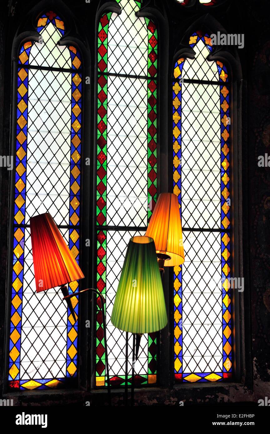 France, Haut Rhin, Guebwiller, Les Dominicains de Haute Alsace (Dominicans of the Upper Alsace Region), Neo Gothic Stock Photo
