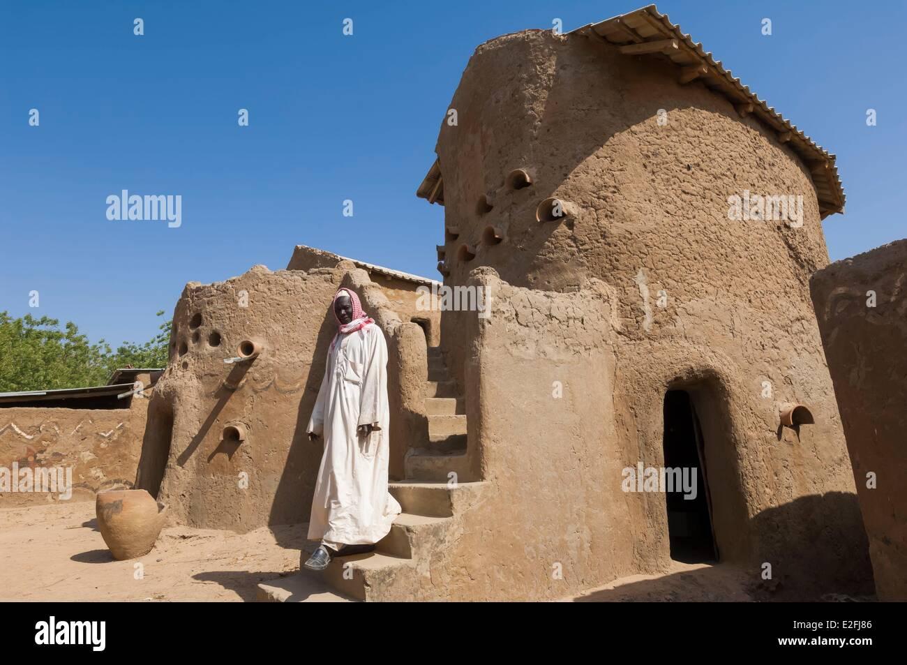 Chad, Sahel, Gaoui, adobe palcxe of the Sao sultan - Stock Image