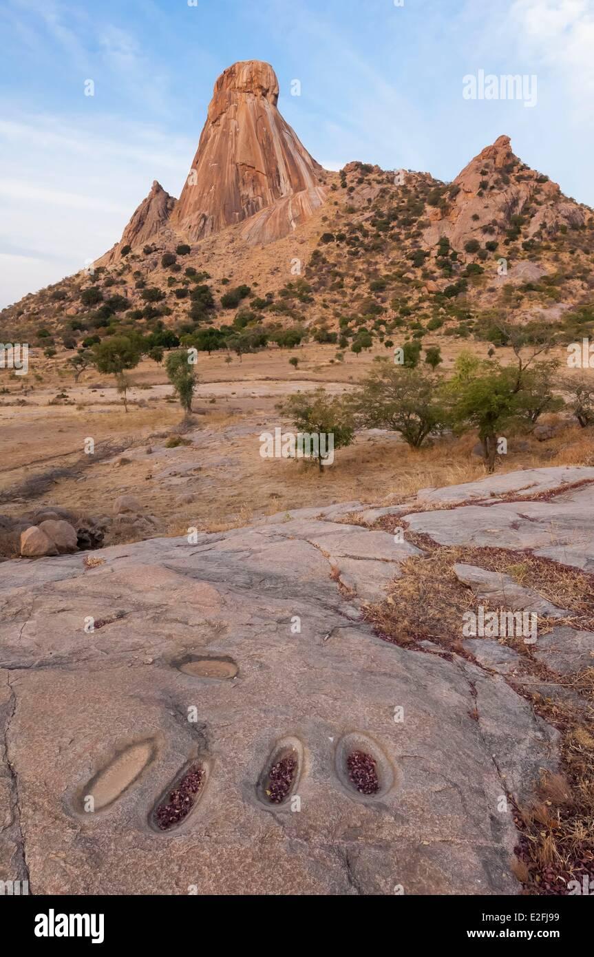 Chad, Sahel, Mataya, granite spires of Abtouyour - Stock Image
