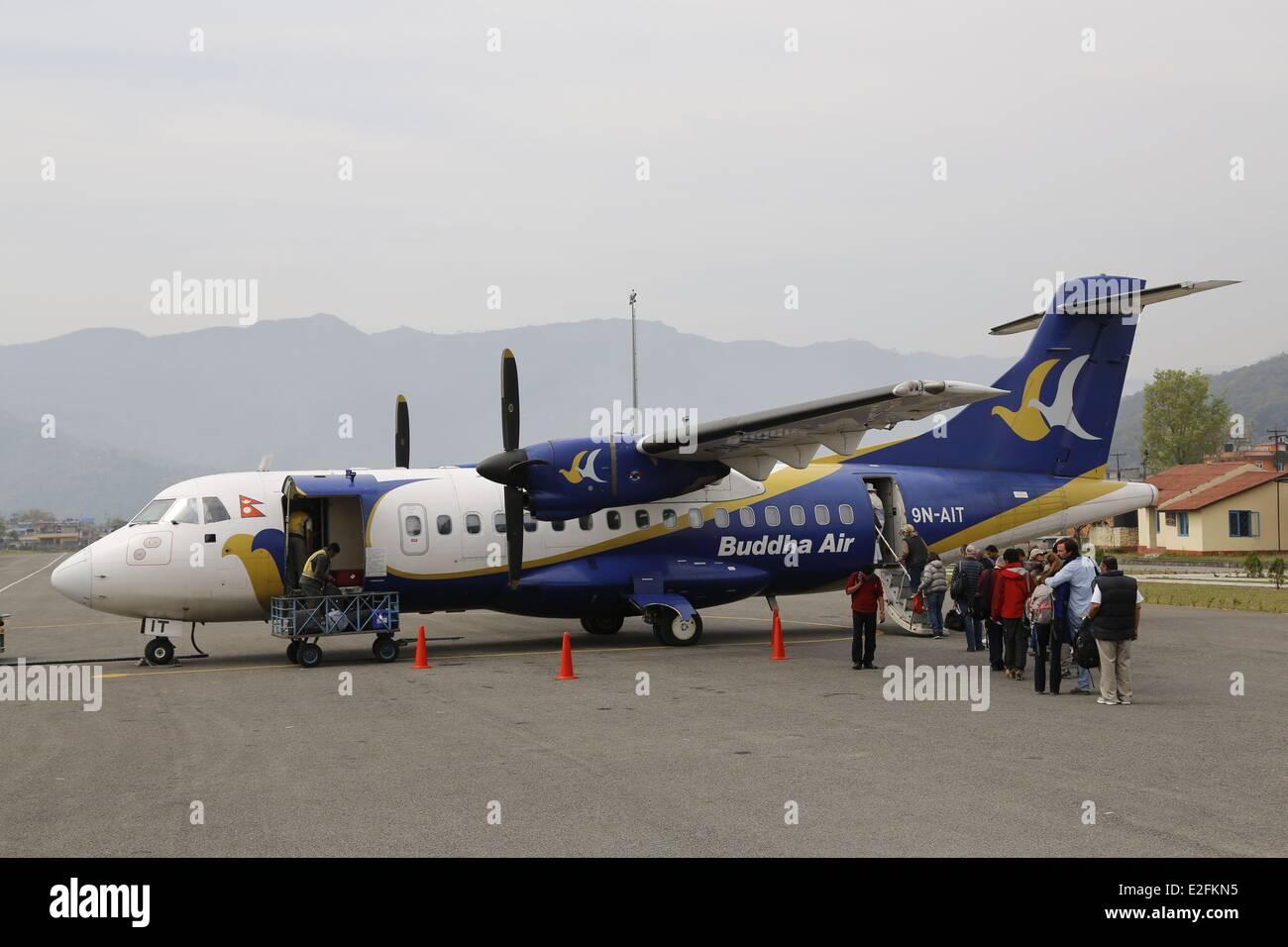 Nepal Gandaki Zone City of Pokhara the airport - Stock Image