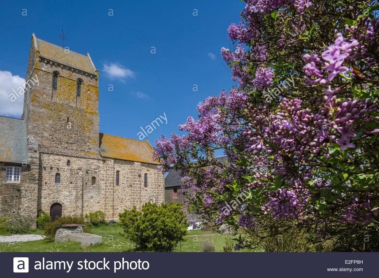 France Manche Vains Saint Leonard priory - Stock Image