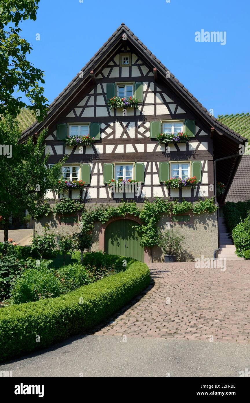 Germany Baden Wurttemberg Durbach half timbered farm - Stock Image