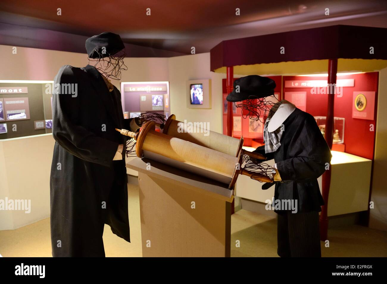 France Bas Rhin Bouxwiller Jewish Alsatian museum in the former synagogue - Stock Image