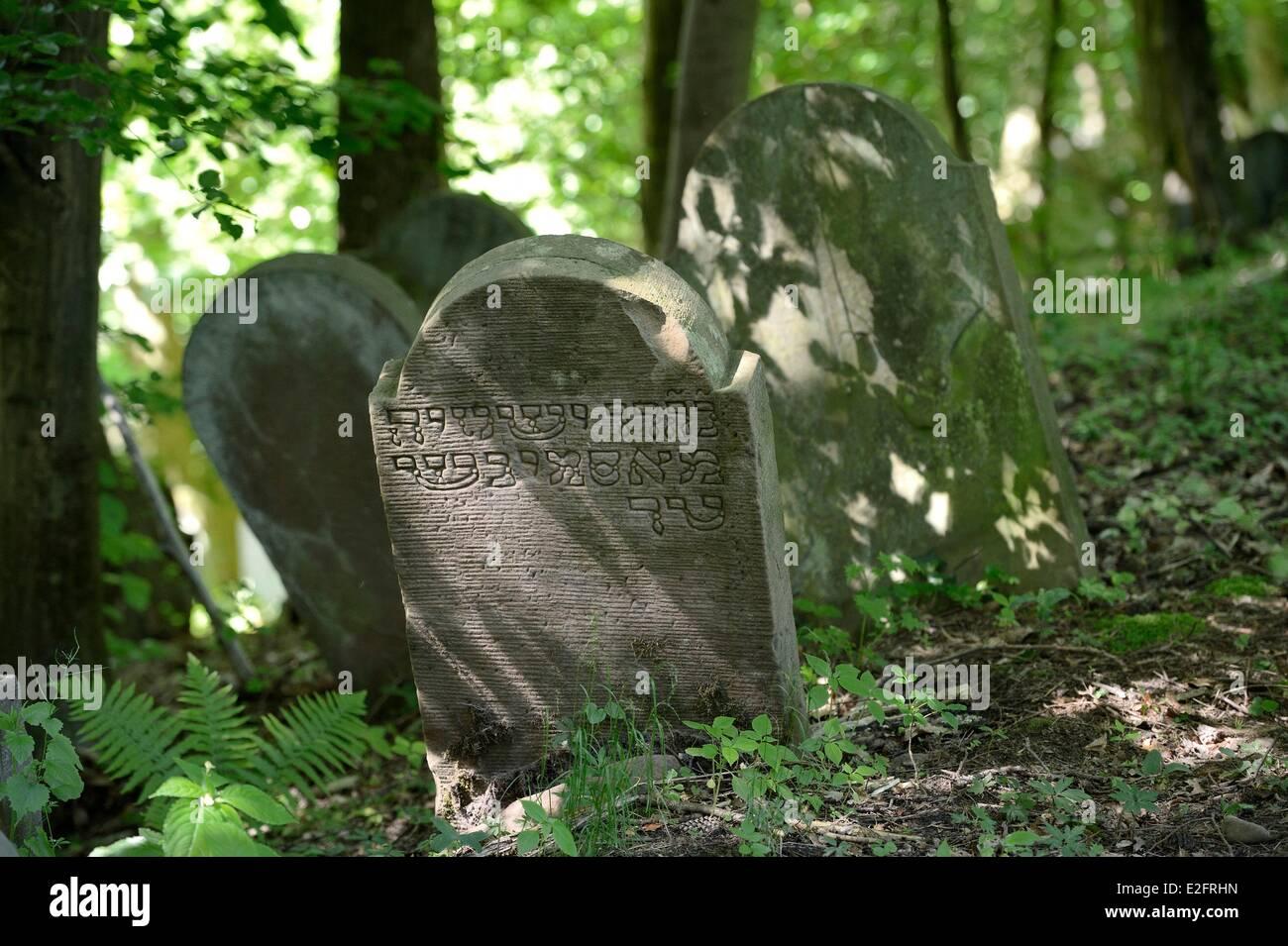 France Bas Rhin Saverne Old Jewish Cemetery - Stock Image