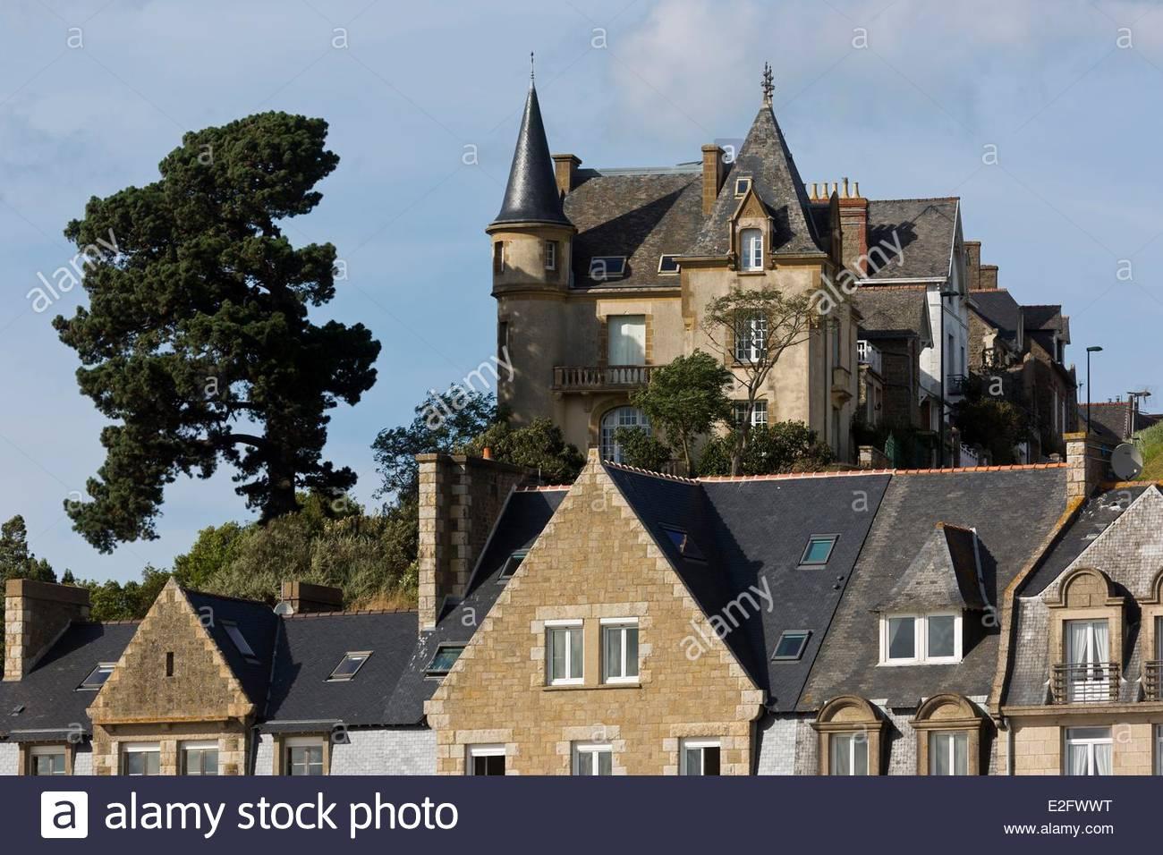 France Ille Et Vilaine Cote Du0027Emeraude (Emerald Coast) Cancale Old Houses  Overlooking