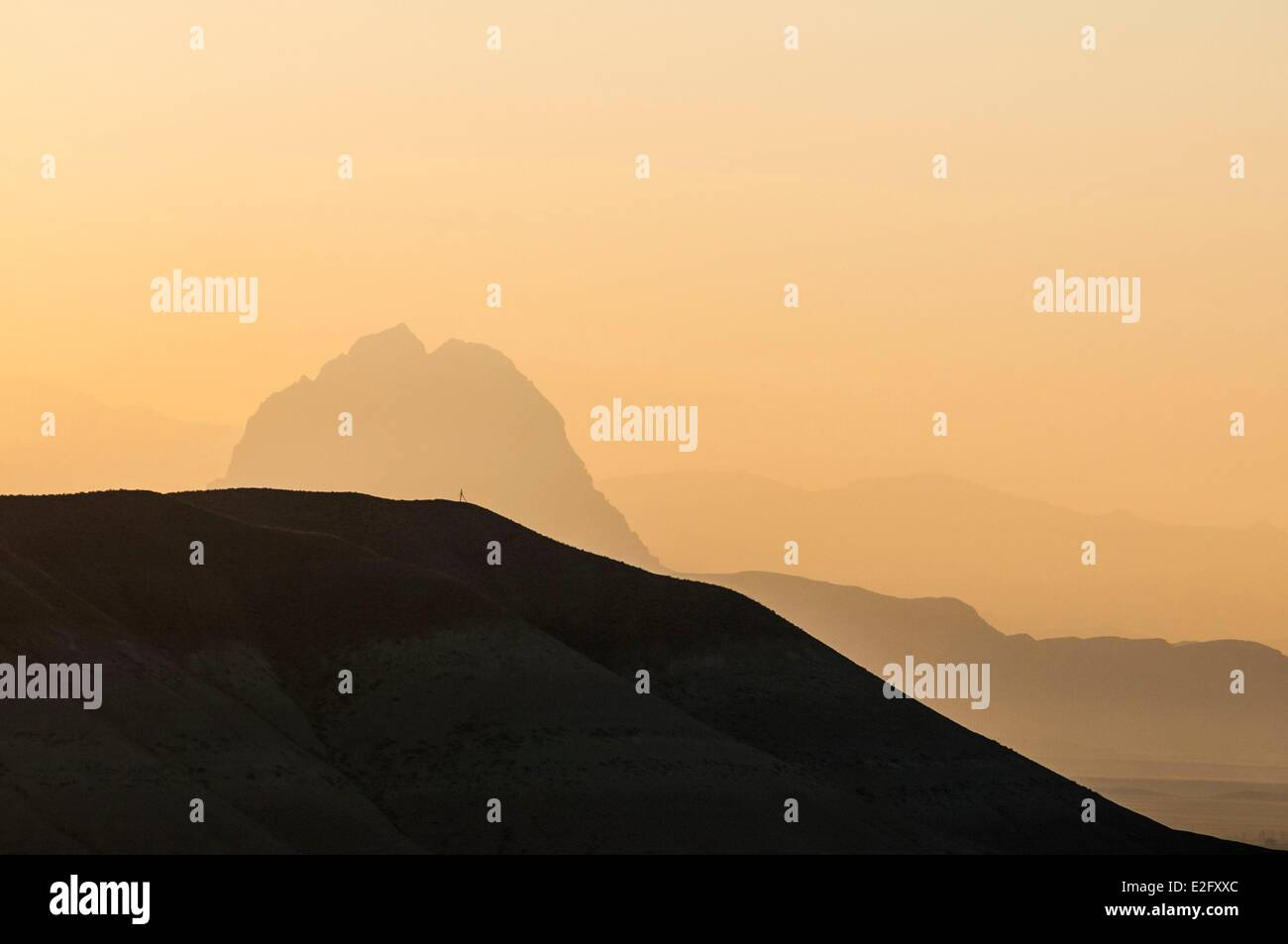 Azerbaijan Nakhchivan mythical mountain Haca Dag where the Noah's Ark run aground - Stock Image