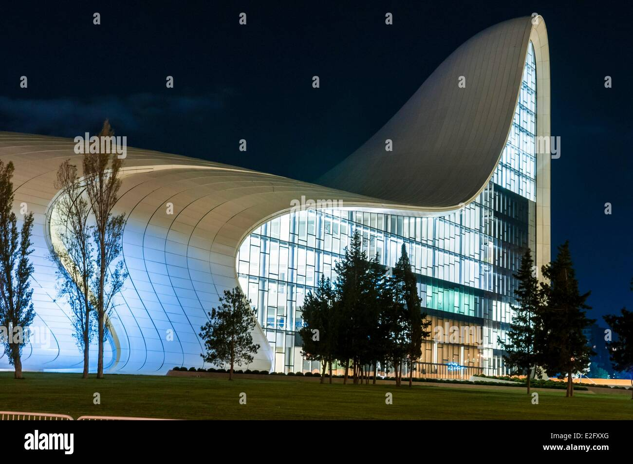 Azerbaijan Baku Heydar Haliyev Conference Centre by architect Zaha Hadid - Stock Image