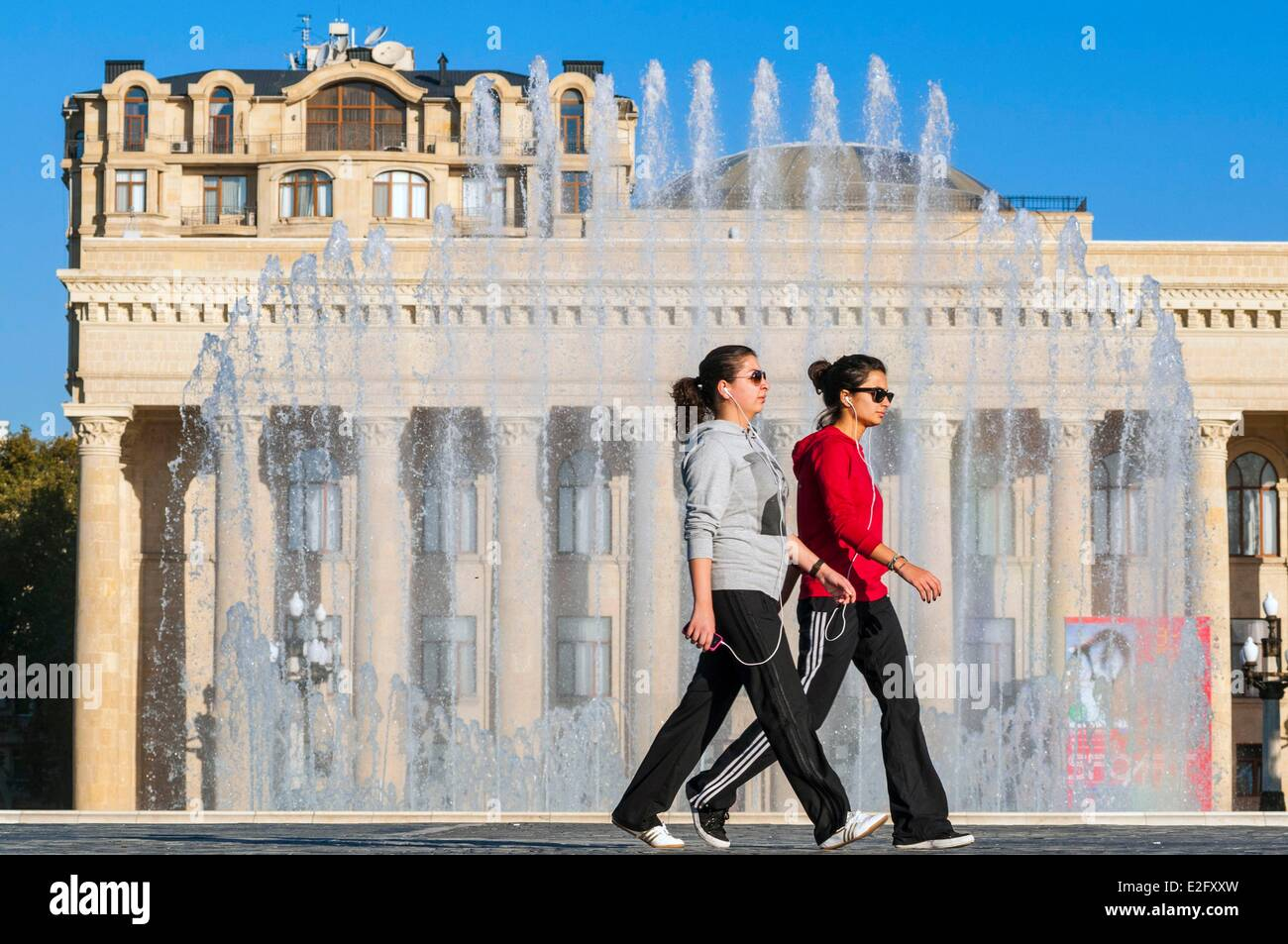 Azerbaijan Baku Museum Center on the Neftciler Prospekt avenue also called Bulvar Stock Photo