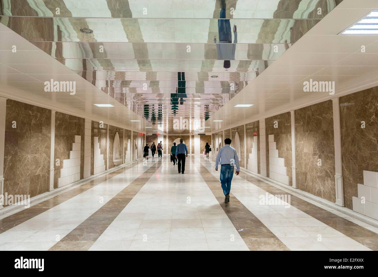 Azerbaijan Baku underground tunnel under the Neftciler Prospekt avenue also called Bulvar - Stock Image