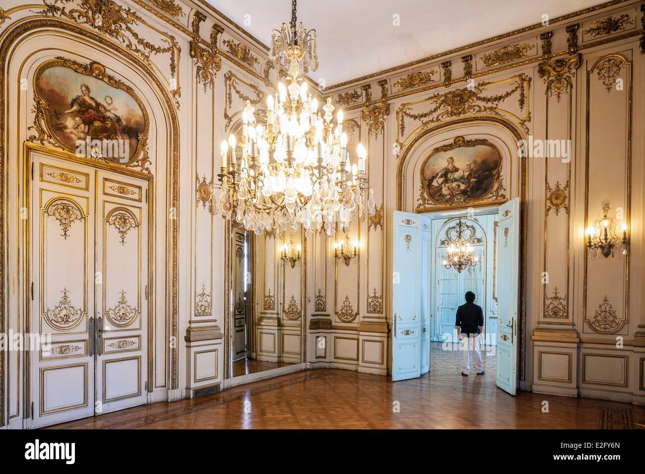 Argentina Buenos Aires Retiro district Palacio Paz 12000 m▓ residence designed by the French architect Louis-Marie - Stock Image
