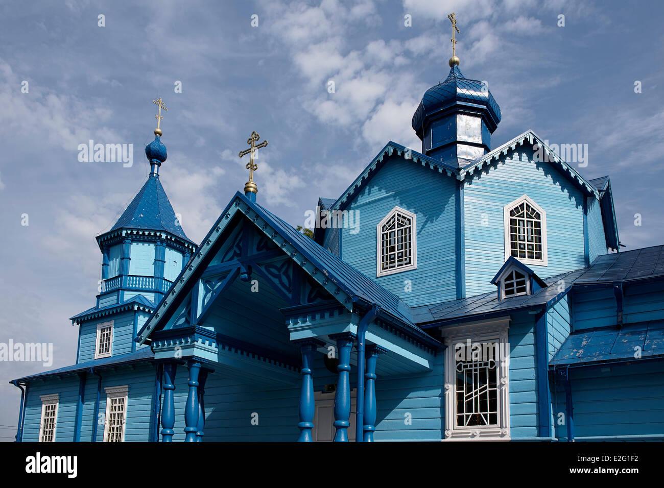 Poland Podlaskie Narew Orthodox Church - Stock Image