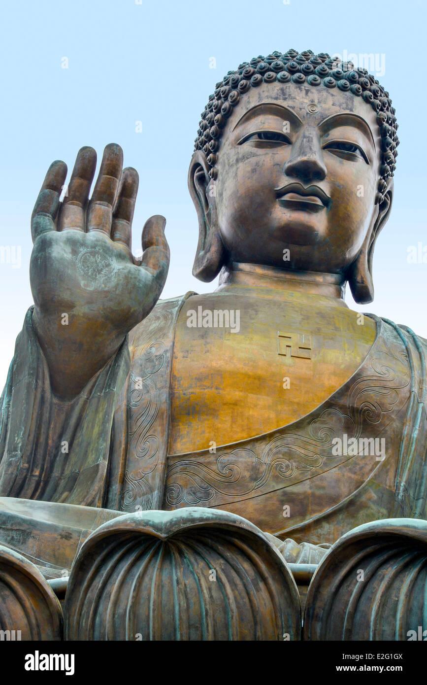 China Hong Kong Lantau Island Ngong Ping Giant Bouddha - Stock Image