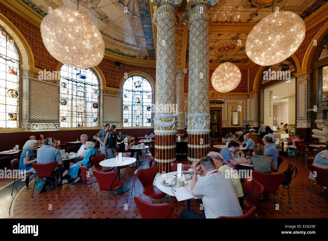 United kingdom london south kensington victoria and albert museum united kingdom london south kensington victoria and albert museum va museum founded in 1852 the va cafe arubaitofo Choice Image
