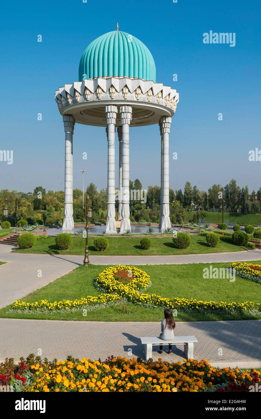 Uzbekistan Silk Road Tashkent Chahidlar Maydoni place (in memory to uzbek people killed by the russian army) Stock Photo