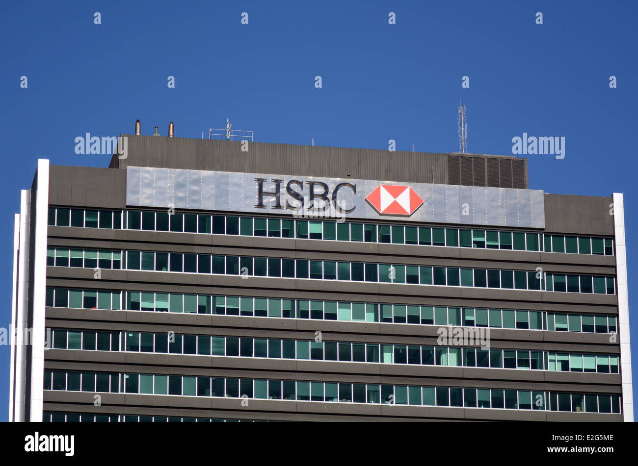 HSBC Bank New Zealand branch in Auckland, New Zealand. - Stock Image