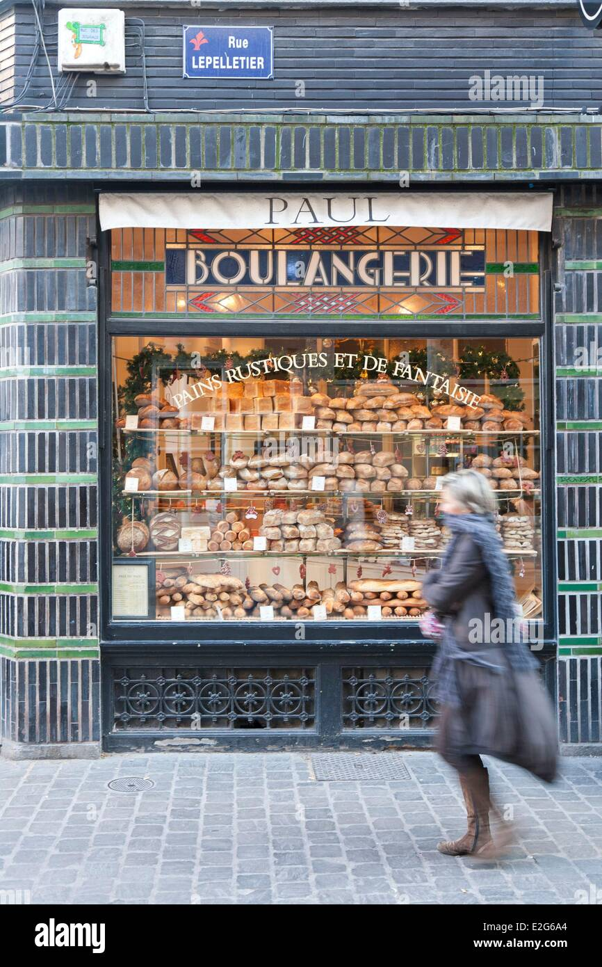 France Nord Lille Paul Bakery in the Vieux Lille (Old Town) - Stock Image