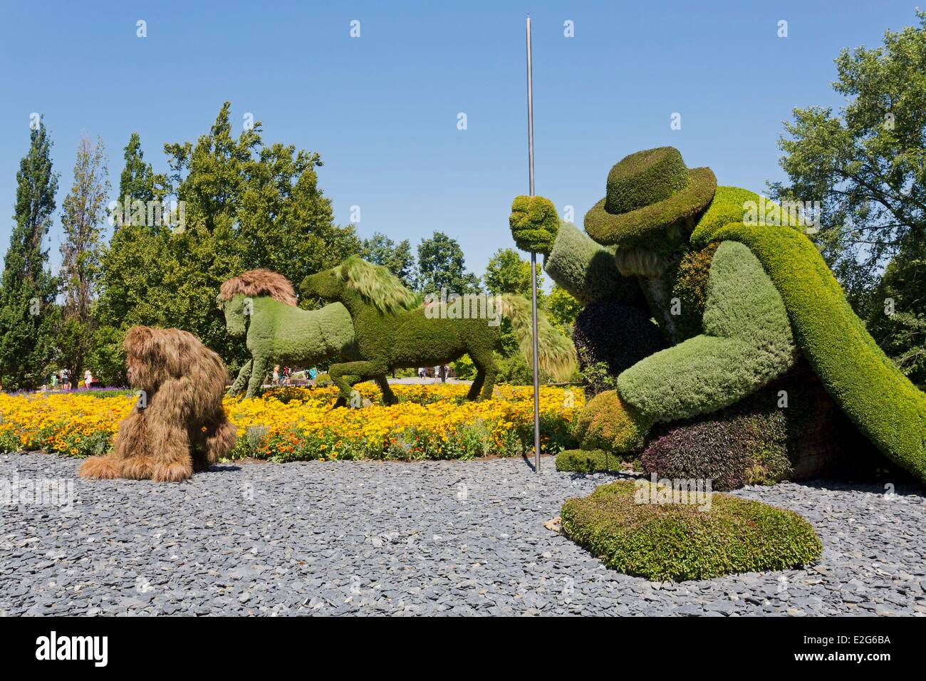 Canada Quebec Province Montreal The Botanical Garden The Man
