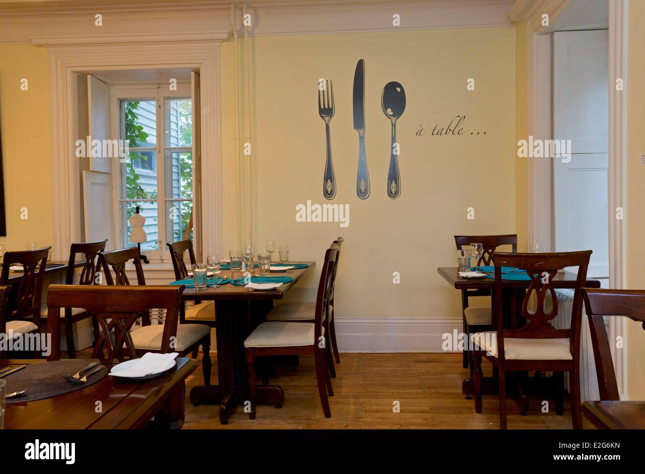 Canada Quebec province Chaudiere-Appalaches region Montmagny Hostel Chez Octave the restaurant - Stock Image