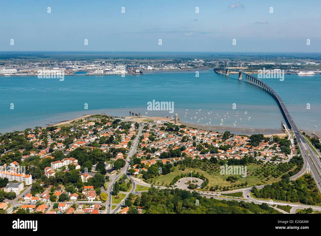 France loire atlantique saint brevin les pins mindin and the saint stock photo 70427468 alamy - Les pierres couchees saint brevin ...
