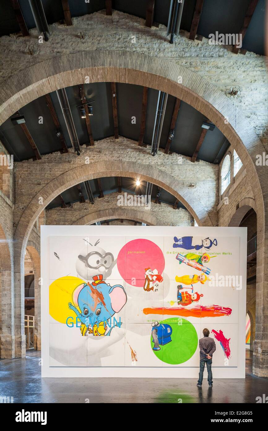 France Gironde Bordeaux Centre for contemporary visual arts de Bordeaux (CAPC) in the former warehouse Laine 19th - Stock Image