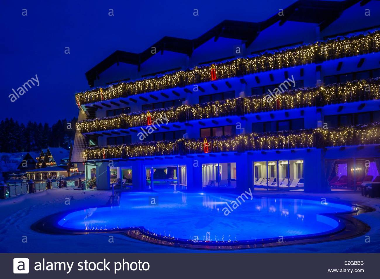 Nice Germany Baden Wurrtemberg Black Forest Bad Peterstal Griesbach Hotel  Dollenberg Night View Of The Hotel And The Pool